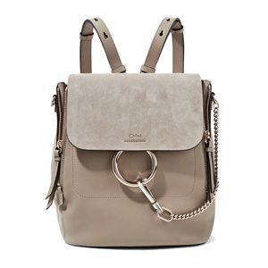 Chloe Small Faye Leather And Suede Backpack